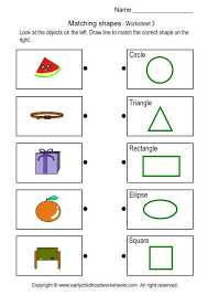 Matching Object with Shape- Brain Teaser Worksheets # 3