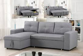 sectional sofa bed grey fabric 829 00