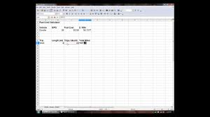 Trip Charge Calculator How To Make A Fuel Cost Calculator Excel Openoffice Calc Youtube