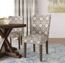 homepop parsons chair grey lattice set of 2