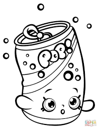 Soda Coloring Pages Pops Shopkin Page Free Printable Unbelievable