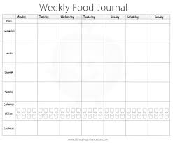 Food And Exercise Diary Importance Of Keeping A Food Diary Free Printout Food