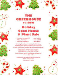 christmas open house flyer holiday open house and plant sale isbvi greenhouse indiana