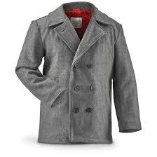 mil spec men s military style peacoat gray