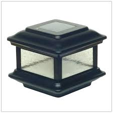 fence post cap lights solar light for fence post solar post cap lights black aluminum colonial