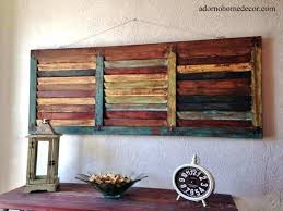 distressed wood wall decor wood metal wall decor best of rustic wood wall panel distressed shutter antique vintage distressed wood and wrought iron wall