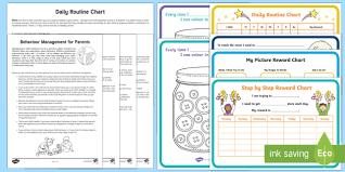 Pack Organization Chart Behavior Charts Resource Pack Morning Routine