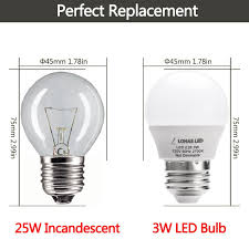 LOHAS LED 3W 25 Watt Equivalent Light Bulbs Warm White 2700K LED