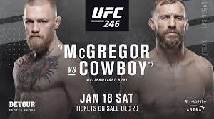 UFC 246 Preview: Conor McGregor - Donald