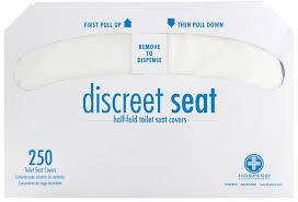 422000577 ds 5000 hospeco discreet seat white half fold toilet seat covers