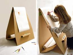 versatile sturdy lightweight and its easy to carry around here are two examples of cardboard furniture for kids snail and wafer by emanuela stocco cardboard furniture