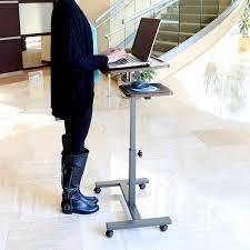 seville mobile laptop desk with side table