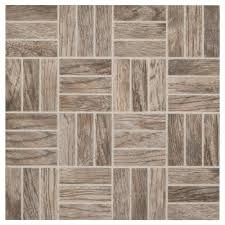 montagna rustic bay 12 in x 12 in x 6 35 mm ceramic lattice mosaic floor and wall tile 1 02 sq ft piece