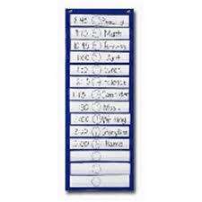 Carson Dellosa Scheduling Pocket Chart Carson Dellosa Cd 5615 Pocket Chart Scheduling 12 1 2 X 33