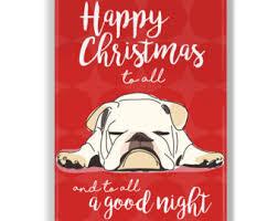 Bulldog christmas | Etsy
