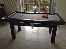 Pool And Dining Table Pool Dining Table In Black Silver Snooker Pool Tables