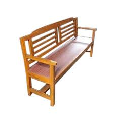 antique garden wooden bench with back