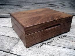 Keepsake Box Custom Engraved Wood Box 8x10 Walnut | Etsy