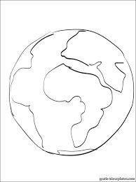Aarde Kleurplaat Gratis Kleurplaten