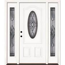 classic white fiberglass doors