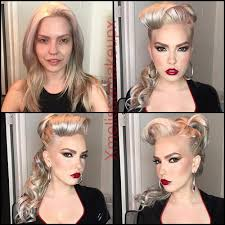 makeup before after quad