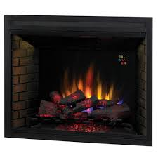 classicflame 39 in led builders electric firebox with fixed glass 39eb500gra