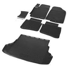 <b>Комплект ковриков салона и</b> багажника Rival для Hyundai Solaris ...