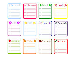Classroom Calendar Template Yearly Birthday Calendar Template Free Classroom Printables 1