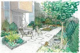Gravel Garden Design Cool Garden Creation Townhouse Serenity DrawnToGarden