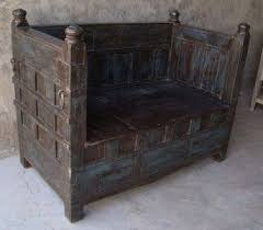 solid indian balinese antique wooden timber seat couch sofa chair daybed day bed ebay