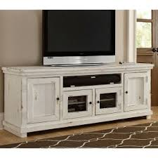 distressed wood entertainment center. Willow 74 Inch Entertainment Console Distressed White In Wood Center