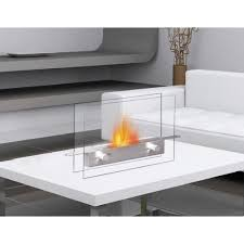 anywhere fireplace metropolitan tabletop vent free ethanol fireplace in stainless steel tempered glass
