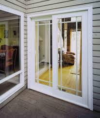 Image of: French Patio Door Built In Blinds