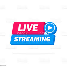 Live Streaming Icon Badge Emblem For Broadcasting Or Online Tv Stream  Vector In Material Flat Design Style Stock Illustration - Download Image  Now - iStock