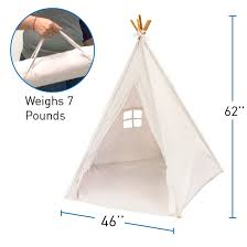 EasyGo Products Indoor Tee Pee Tent - 6 Foot Tall Classic Indian Play Tent  for Kids with Five Wood Poles and Carry Bag - Free Shipping Today -  Overstock.com ...