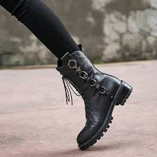 us 61 arden furtado autumn winter square heels genuine leather boots round toe motorcycle ankle boots black cross tied matin boots ardenfurtado com