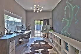 contemporary home office. Contemporary Home Office With Built In Bookshelf Hardwood Floors