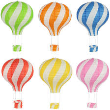 Hot Air Balloon Paper Lanterns for Wedding Birthday Engagement Christmas  Party Decoration Colorful Set Pack of 6 - - Amazon.com