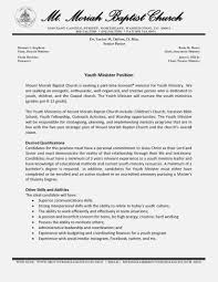 Youth Pastor Resume Samples Toha