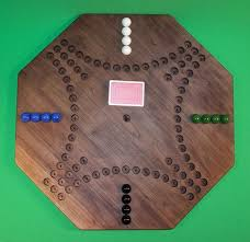 Wooden Aggravation Game Wooden Marble Game Board Aggravation 100 Octagon 100Player Black Walnut 16