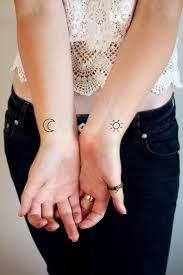 Set Di Tatuaggio Temporaneo Di Luna E Sole Luna Tatuaggio Etsy