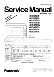 panasonic nn sn797s manuals panasonic microwave service manual at Panasonic Microwave Schematics