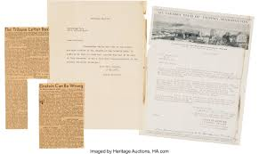Albert Einstein Typed Letter Signed... Autographs Inventors | Lot #47171 |  Heritage Auctions