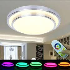 ceiling light with remote modern colorful control white smart battery