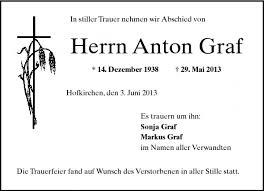 Anton Graf - PNP Trauerportal