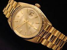 men s rolex watches new used vintage mens rolex solid 18k yellow gold datejust w gold plated president style bracelet
