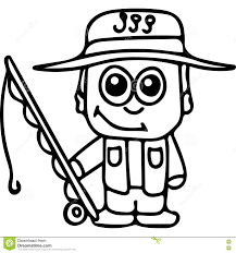 Small Picture Fisherman Kids Coloring Page Stock Illustration Image 78571560