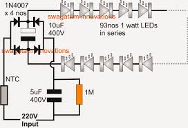 simplest 100 watt led bulb circuit electronic circuit projects simplest 100 watt led bulb circuit electronic circuit projects