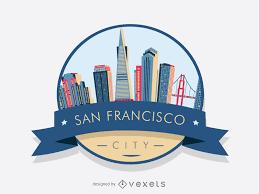 Logo Designer San Francisco San Francisco Badge Skyline Vector Download