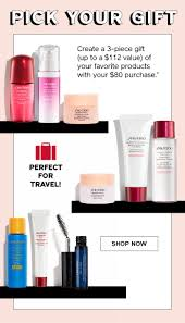 valid on your 80 purchase on shiseido offer ends 3 2 2019 at 11 59pm pst or while supplies last not valid on gift sets or gift cards